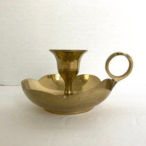 Vintage Brass Chamberstick Candle Holder India